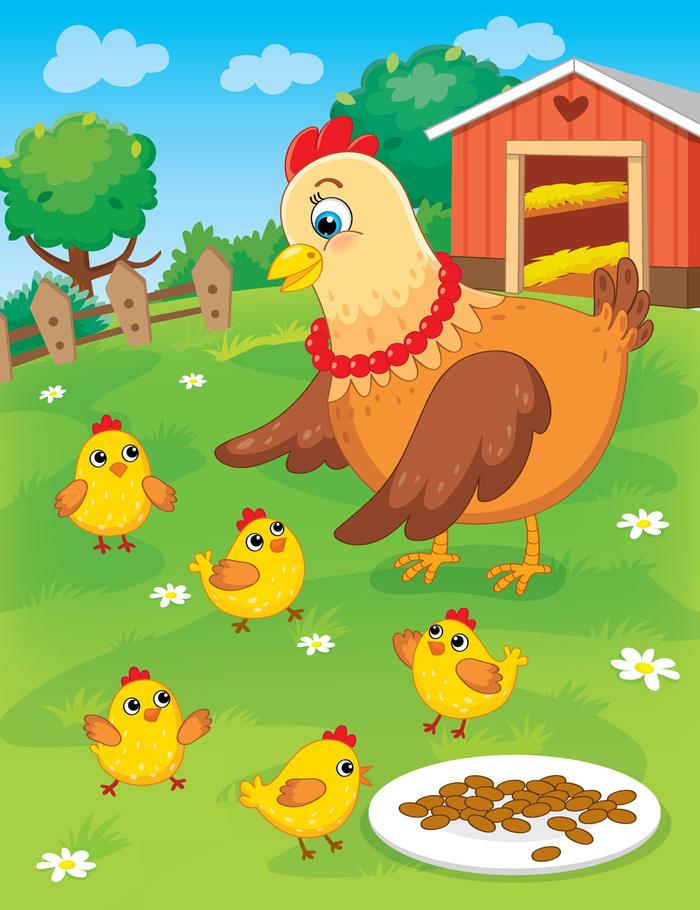Курочка с цыпленком картинки для детей, против курения